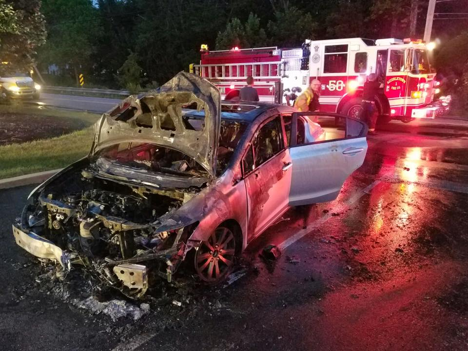 Vehicle Fire in Lima