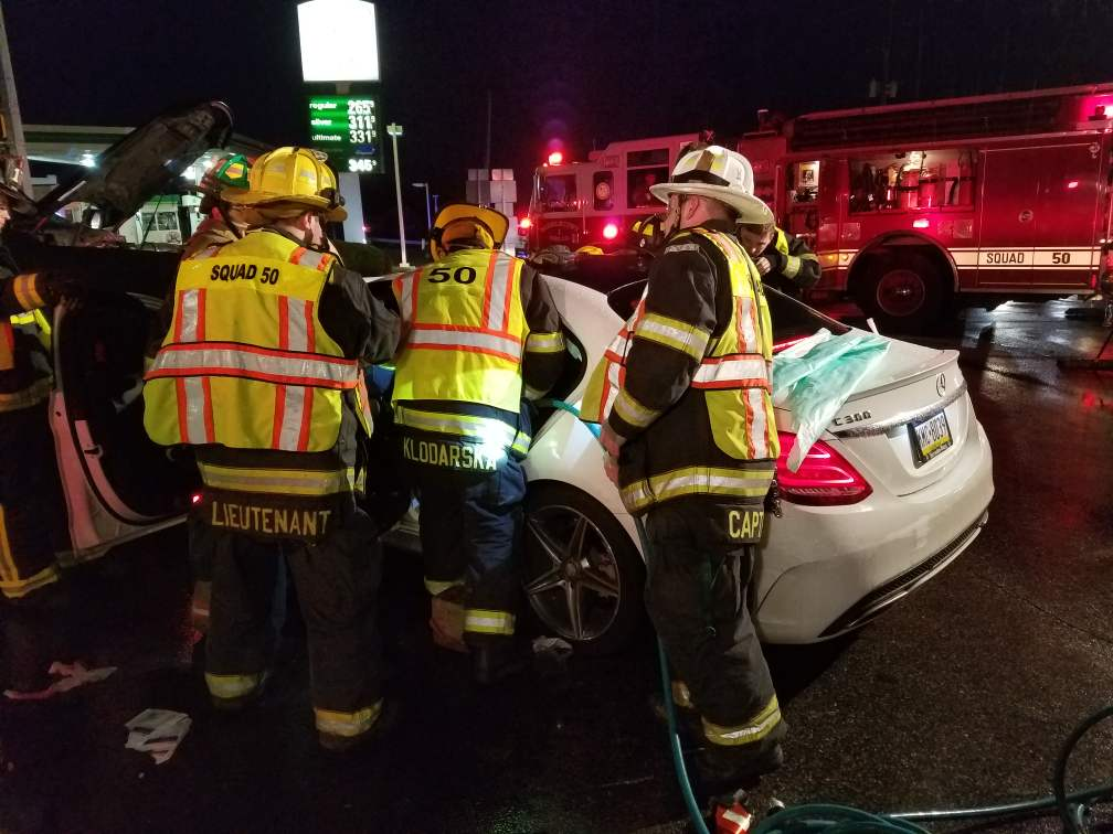 Accident with Entrapment on Baltimore Pike